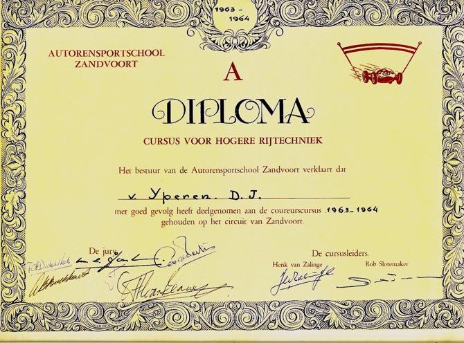 RSZ Diploma 1964